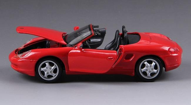 โมเดลรถ โมเดลรถยนต์ โมเดลรถเหล็ก Boxster Cabrio Red 6