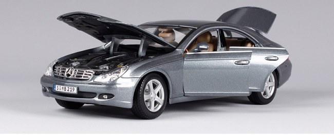 โมเดลรถ โมเดลรถเหล็ก โมเดลรถยนต์ Benz CLS Class silver 4