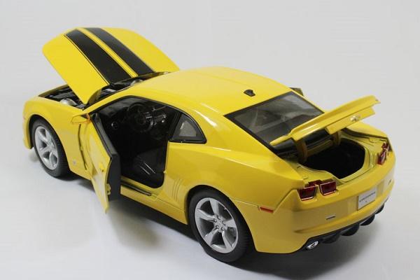 โมเดลรถ โมเดลรถเหล็ก โมเดลรถยนต์ chevrolet camaro yellow 5