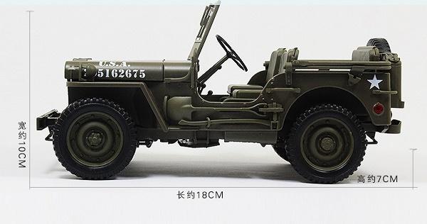 โมเดลรถ โมเดลรถเหล็ก โมเดลรถยนต์ Jeep WW2 US Army 3