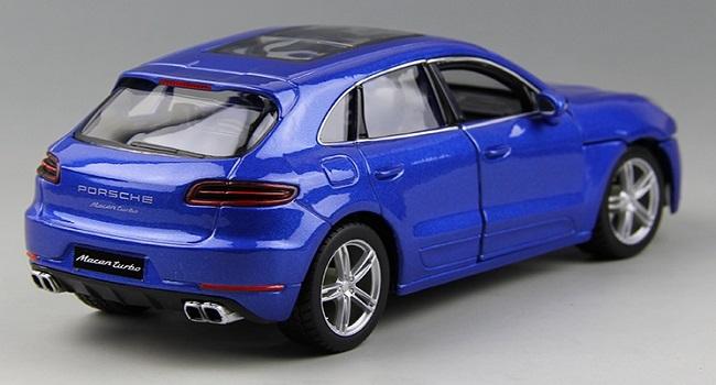 โมเดลรถ โมเดลรถยนต์ โมเดลรถเหล็ก porsche Macan blue 3
