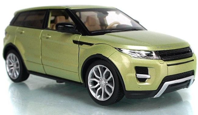 โมเดลรถเหล็ก โมเดลรถยนต์ Land Rover Evoque 4 doors เขียวอ่อน 1