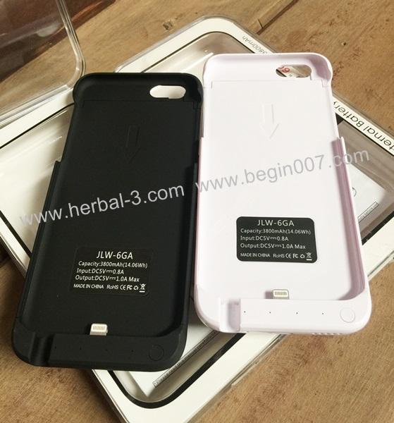 เคสแบตสำรอง Power Case ไอโฟน ไอโฟน i6 จอ 4.7 ความจุสูงถึง 3800mAh (แบบหุ้มตัวเครื่อง+บาง)