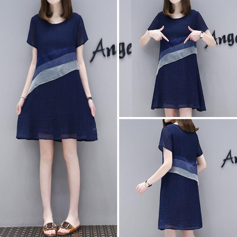 **สินค้าหมด Dress4146-Navy Blue เดรสทรงสวยแต่งระบายช่วงเอว มีซับในอย่างดีทั้งชุด ซิปข้างใส่ง่าย ผ้าชีฟองทึบแสงเนื้อดีนุ่มใส่สบาย ทรงนี้ใส่ได้เรื่อยๆ งานสวยใส่ง่ายน่ารักมาก (สีกรม)