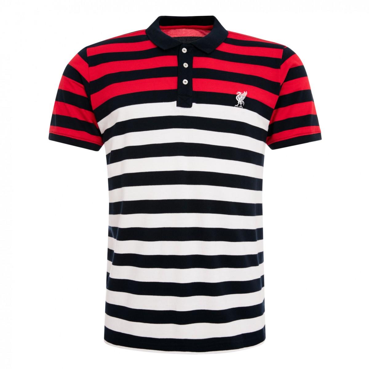เสื้อโปโลลิเวอร์พูลของแท้ Mens Core Striped Polo Shirt