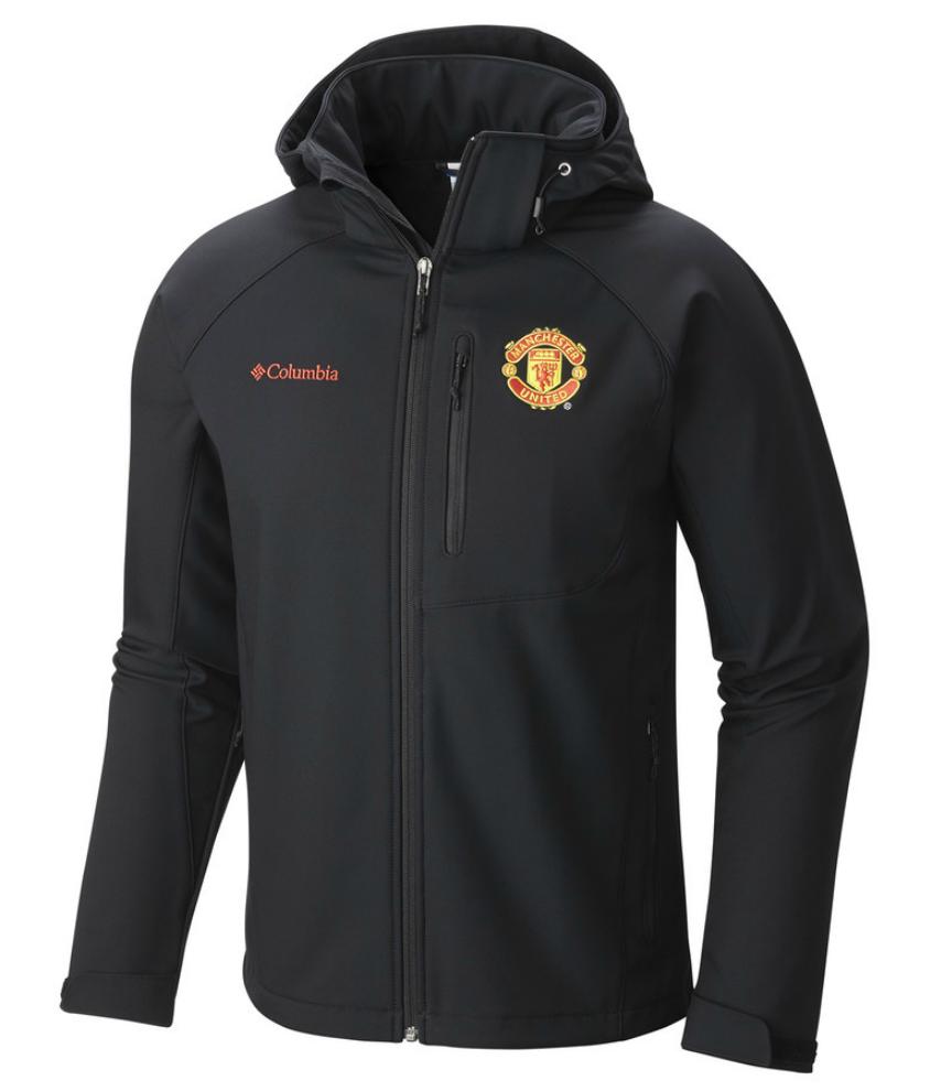 เสื้อแจ็คเก็ตแมนเชสเตอร์ ยูไนเต็ด Columbia Pouring Adventure Jacket สีดำของแท้
