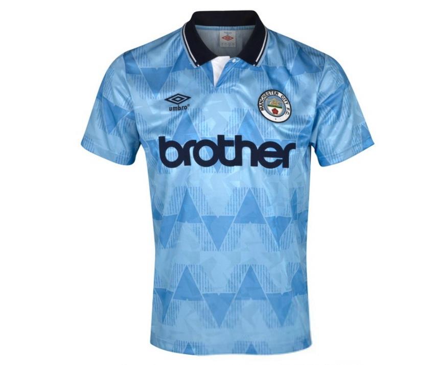 """เสื้อ Retro แมนเชสเตอร์ ซิตี้ ของแท้ 100% Manchester City 1989 Home Shirt เป็นของฝาก ของสะสม ที่ระลึก ของขวัญแด่คนสำคัญ Size: XL 44-46""""/115cm Chest"""