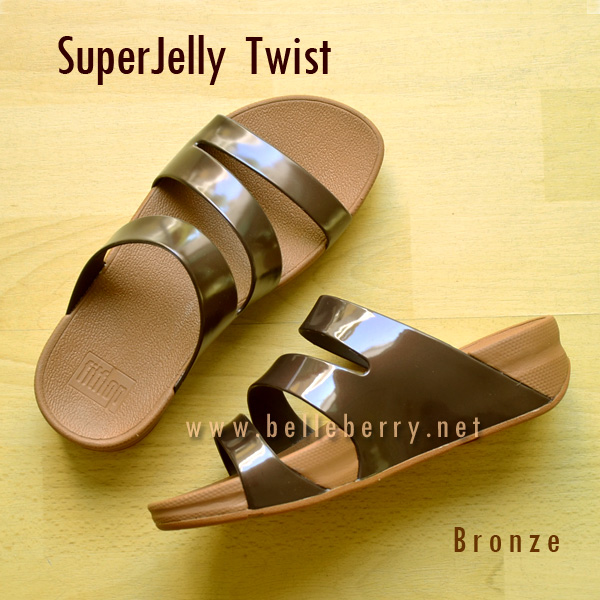 **พร้อมส่ง** FitFlop SUPERJELLY TWIST : Bronze : Size US 9 / EU 41