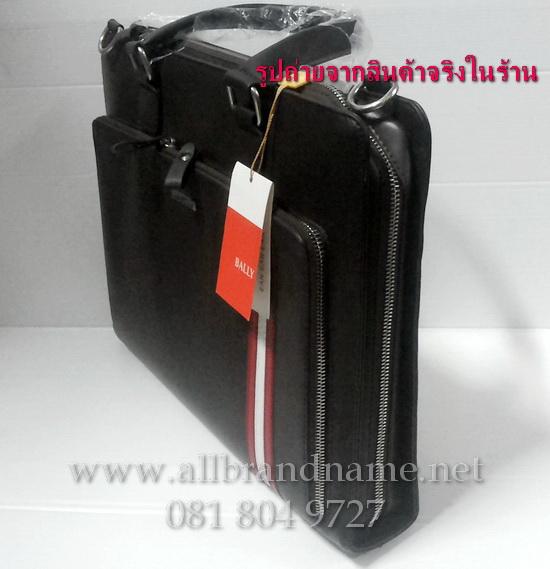 """กระเป๋าเอกสาร Bally สีดำ ขนาด 15""""x11.5"""" มีสะพาย"""