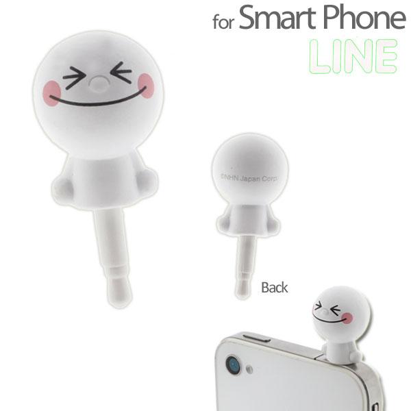 """""""พร้อมส่ง""""นำเข้าจากญี่ปุ่น 100% Line Character Cappy จุกปิดกันฝุ่น earphone เสียบช่องหูฟังiphone - Moonยิ้ม"""