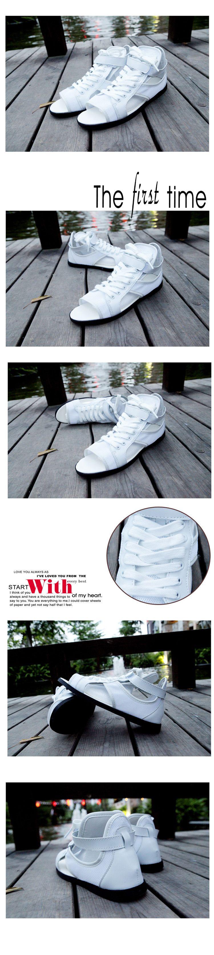 รองเท้าผู้ชาย   รองเท้าแฟชั่นชาย รองเท้าหุ้มข้อ กึ่งแตะ แฟชั่นเกาหลี