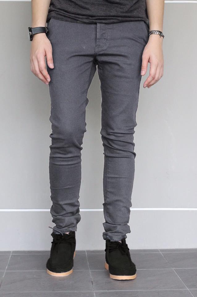 กางเกงขายาว ทรงเดฟ สีเทา