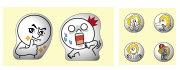 """""""พร้อมส่ง""""นำเข้าจากญี่ปุ่น 100% Line Sticker ตกแต่ง โทรศัพท์และปุ่มโฮม - Moon+James"""