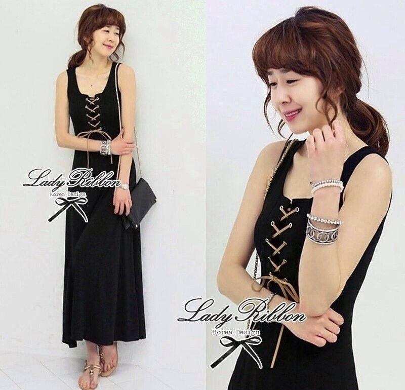 Lady Ribbon's Made Jersey Cross Maxi Dress