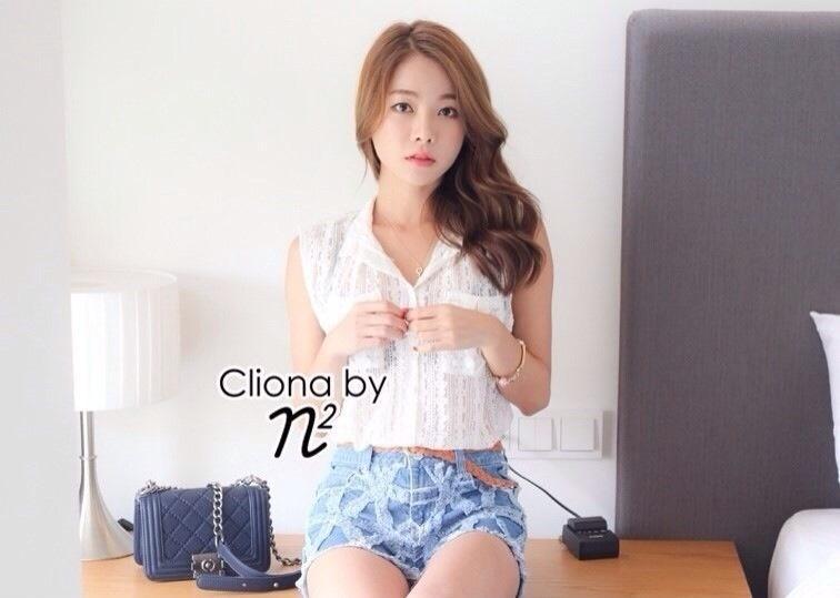 Cliona made, Holiday Lace Shirt Short Set