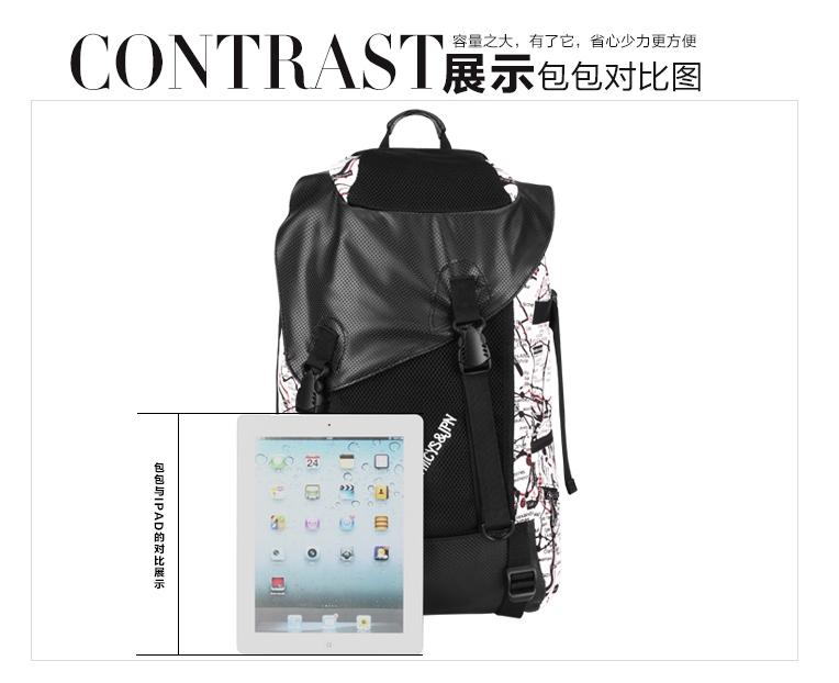 Pre-Order กระเป๋าแฟชั่นผู้ชาย กระเป๋าเป้ MCYS&JPN สีดำ จุของได้เยอะ ใส่ iPad ได้ ใส่โน้ตบุคได้ สะพายสไตล์เท่ห์ แบบ backpack