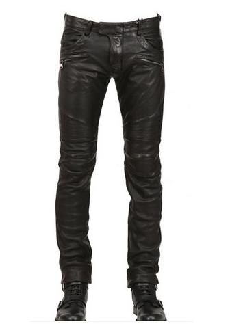 กางเกงBalmain Leather Pant Denim