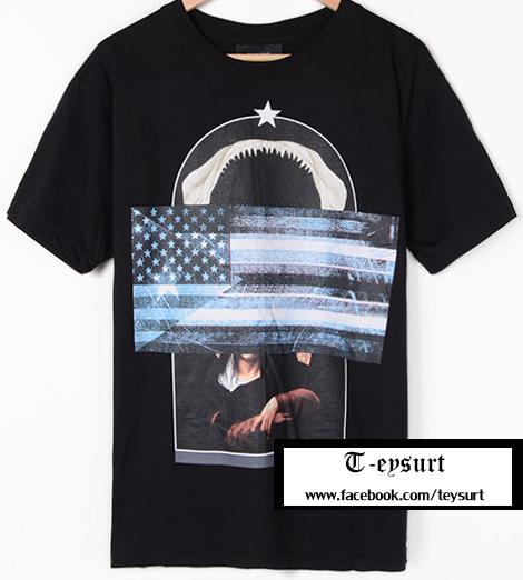 เสื้อGivenchy SharkFlagMadonna-Print