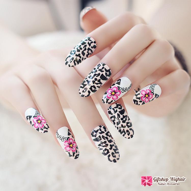 เล็บปลอมเกาหลี ลาย Leopard Flower HISO
