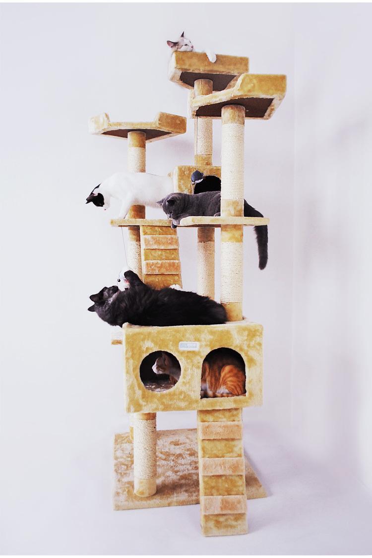 MU0006 คอนโดแมวหกชั้น ต้นไม้แมว ขนาดใหญ่ cat tree สูง 185 cm
