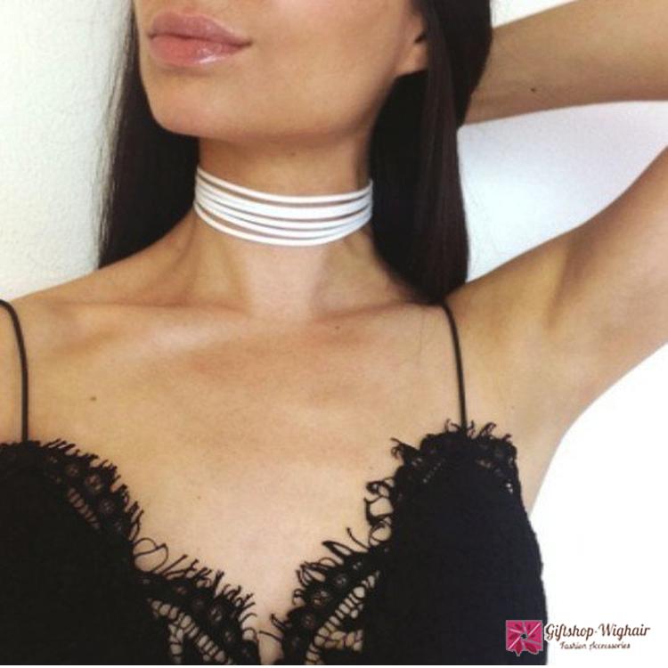 สร้อยคอ Simple retro necklace pendant choker Acc