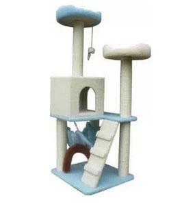 MU0092 คอนโดแมวสี่ชั้น ต้นไม้แมว บ้านอุโมงค์ เปลนอนพักผ่อน สูง 135 CM
