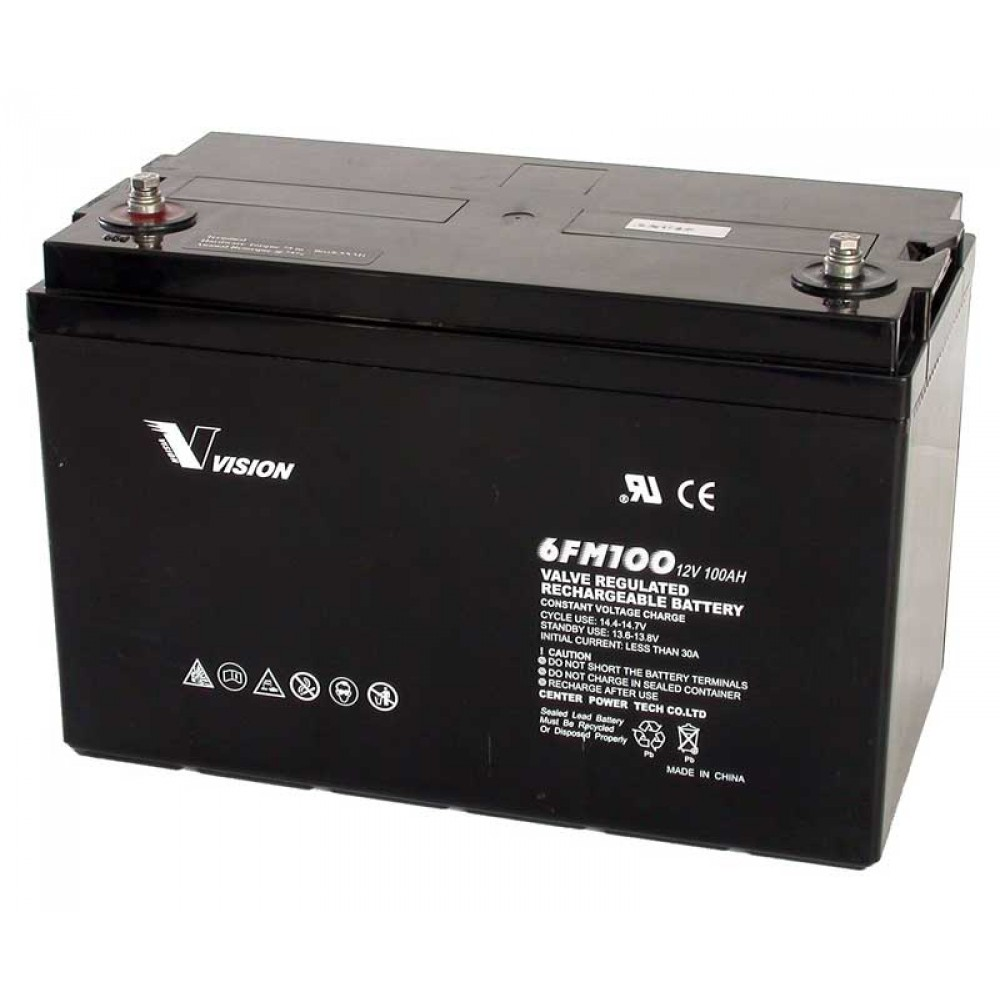 แบตเตอรี่ขนาด 100Ah 12V ชนิด Deep Cycle - AGM
