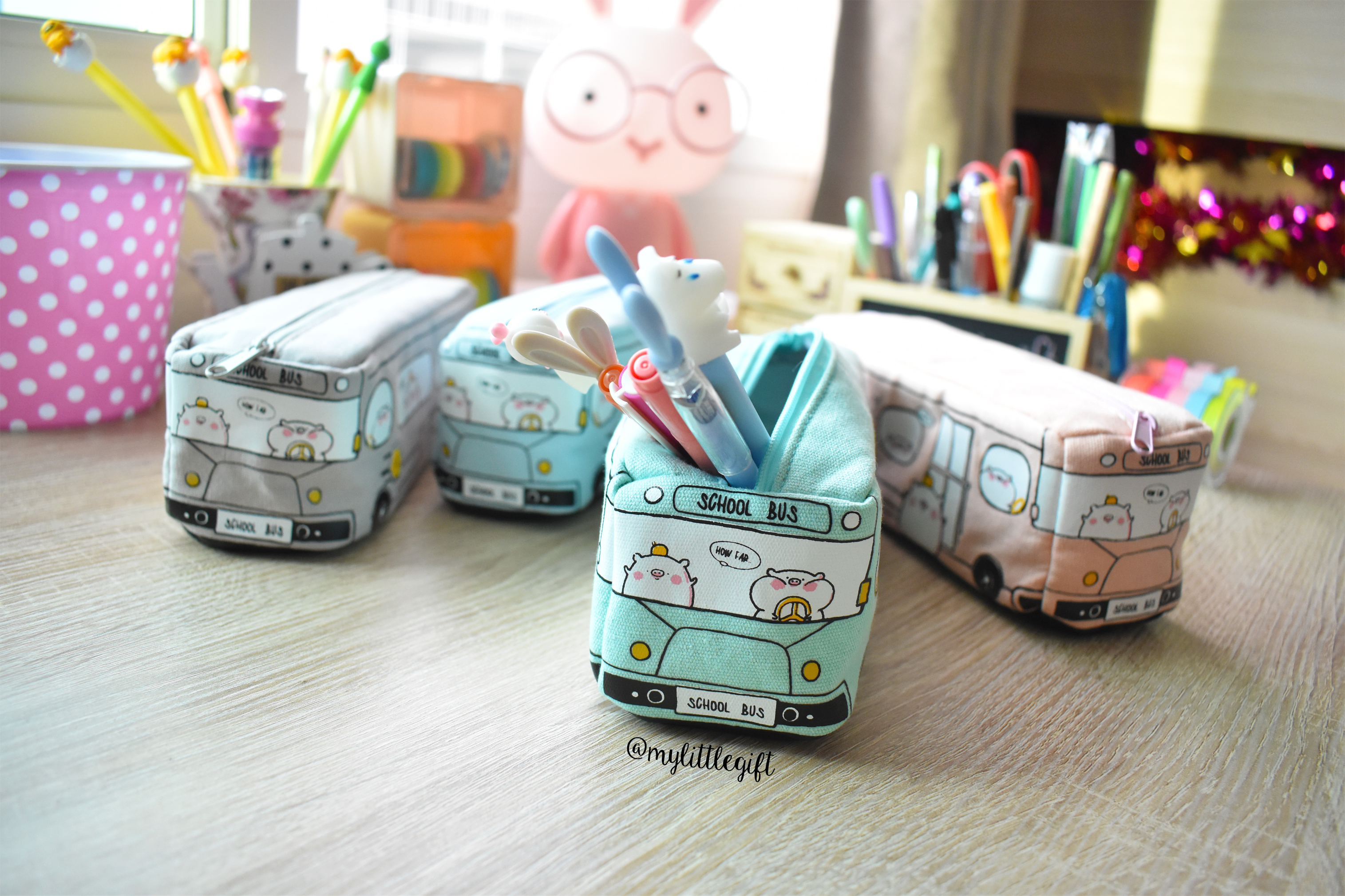กระเป๋าดินสอผ้า รูปรถโรงเรียน