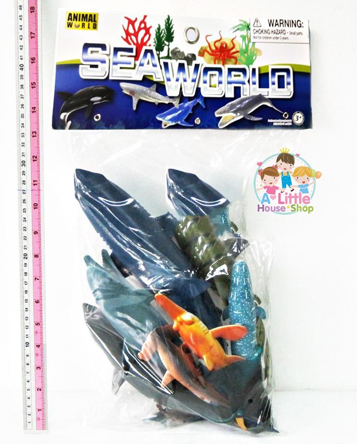 ชุดสัตว์ทะเล ฉลามรวม โลมา วาฬ 11 ตัว รุ่นใหม่