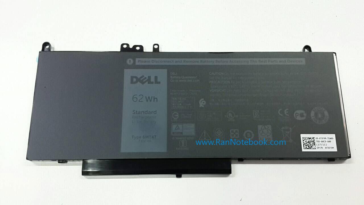 Battery Dell Latitude E5450 4-C 62Whr 6MT4T แบตแท้ ประกันศูนย์ Dell Thailand