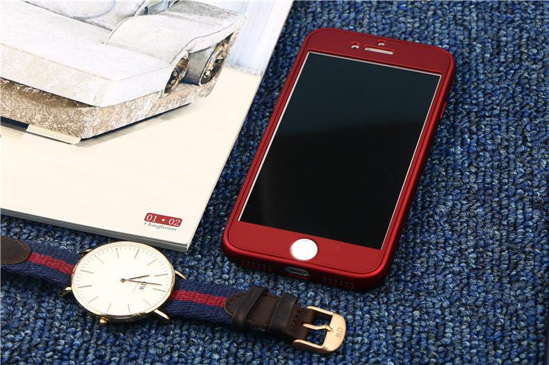 เคสประกบหน้าแข็ง หลังนิ่ม แดงเลือดนก iPhone 6/6S