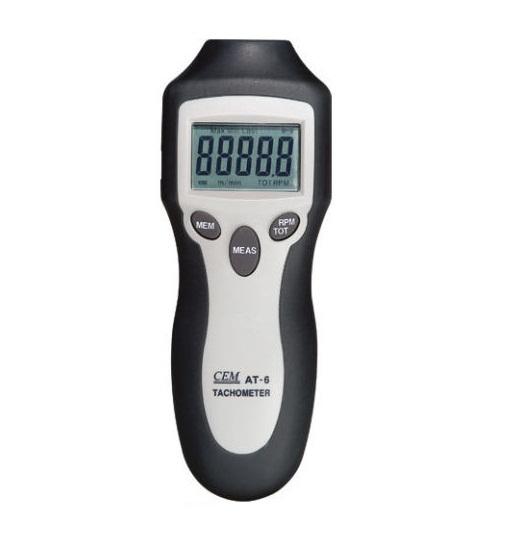 เครื่องวัดความเร็วรอบ (Digital Tachometer) ยี่ห้อCEMรุ่น AT-6 ใช้งานแบบแสง (Non-contact) ย่านการใช้งาน0-99,999 RPM