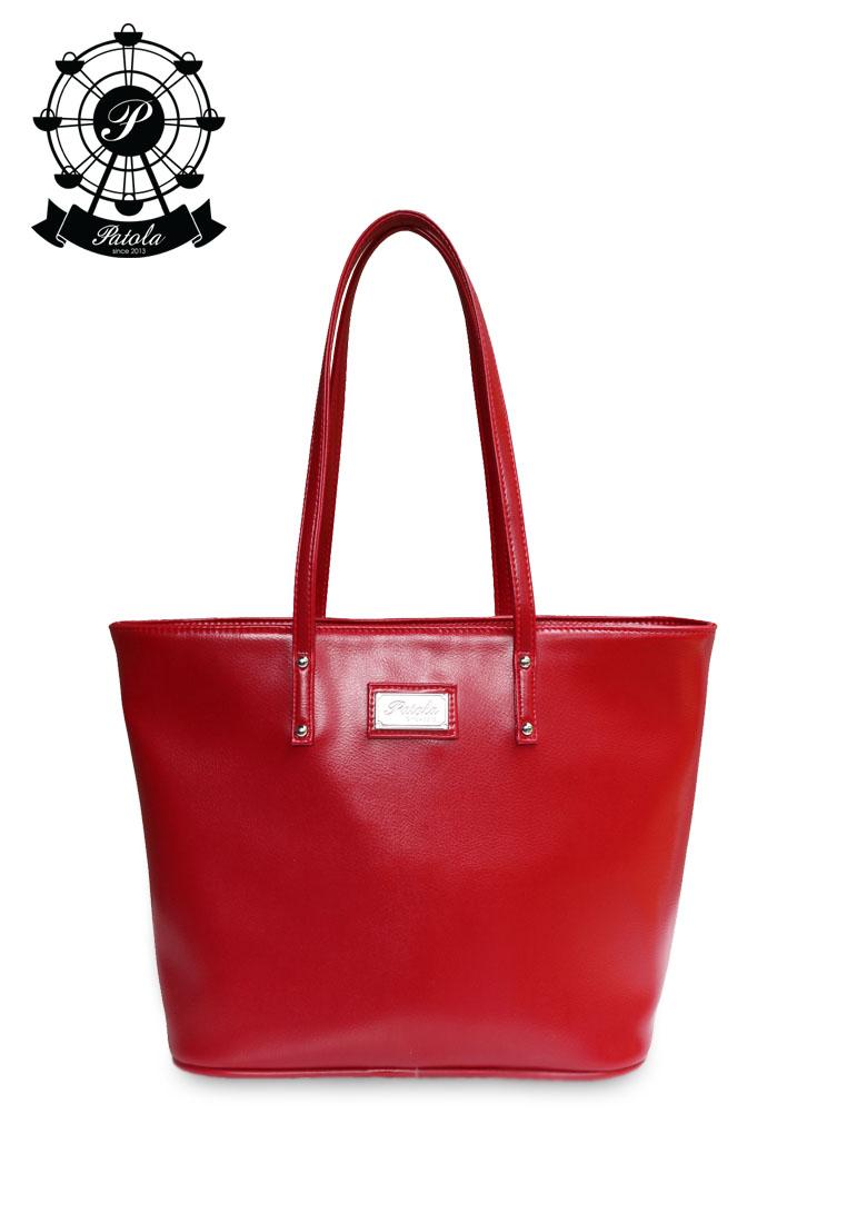 กระเป๋า Patola รุ่น M totebag หนังด้านpu สีแดง