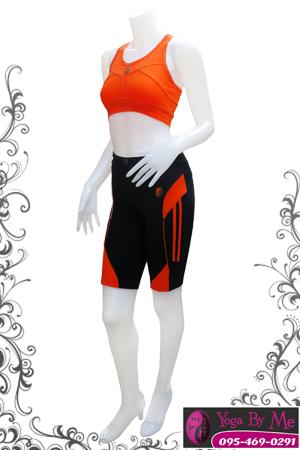 เสื้อกล้ามโยคะครึ่งตัว AC705-31 สีส้ม