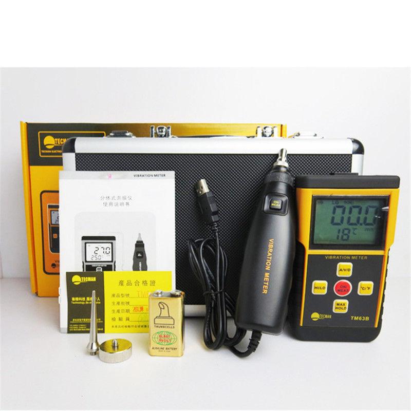 Vibration Meter vibrometer เครื่องวัดความสั่นสะเทือน แบบพกพา รุ่น TM63B ยี่ห้อ Tecman ราคากันเอง