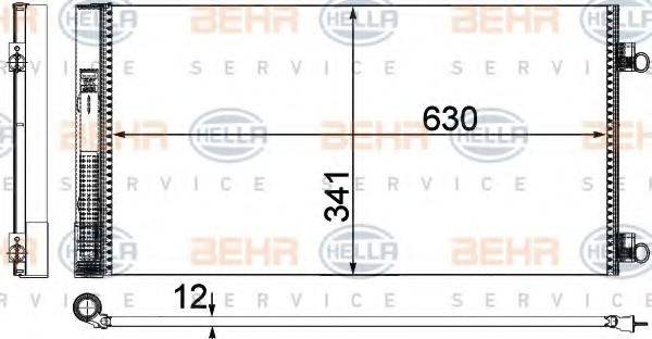 แผงรังผึ้งแอร์ MINI R56-R59 / Condenser, 64539228607