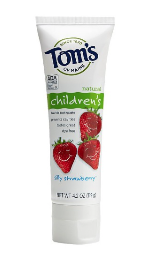 Tom's of Maine® Silly Strawberry Anticavity Fluoride Natural Kids Toothpaste