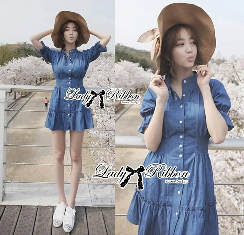 DR-LR-101 Lady Marissa Modern Country Denim Shirt Dress