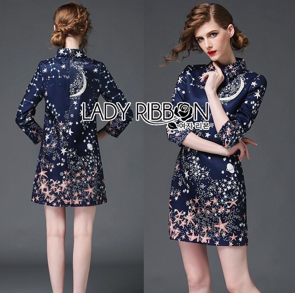 Valentino Little Star Printed Mini Shirt Dress L214-79C01