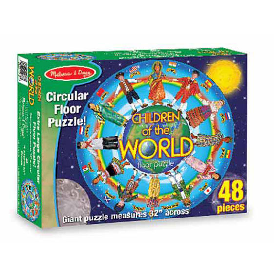 Circular Floor Puzzle Children of the World