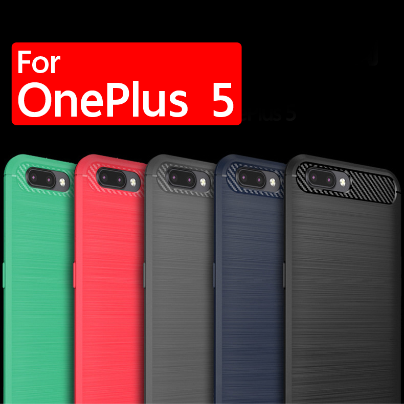 เคส OnePlus 5 Carbon Fiber Brushed Hard TPU