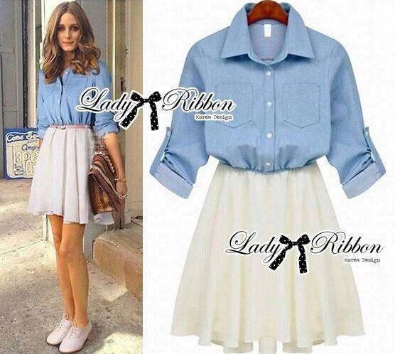 DR-LR-044 Lady Olivia Casual Chic Denim Short Dress