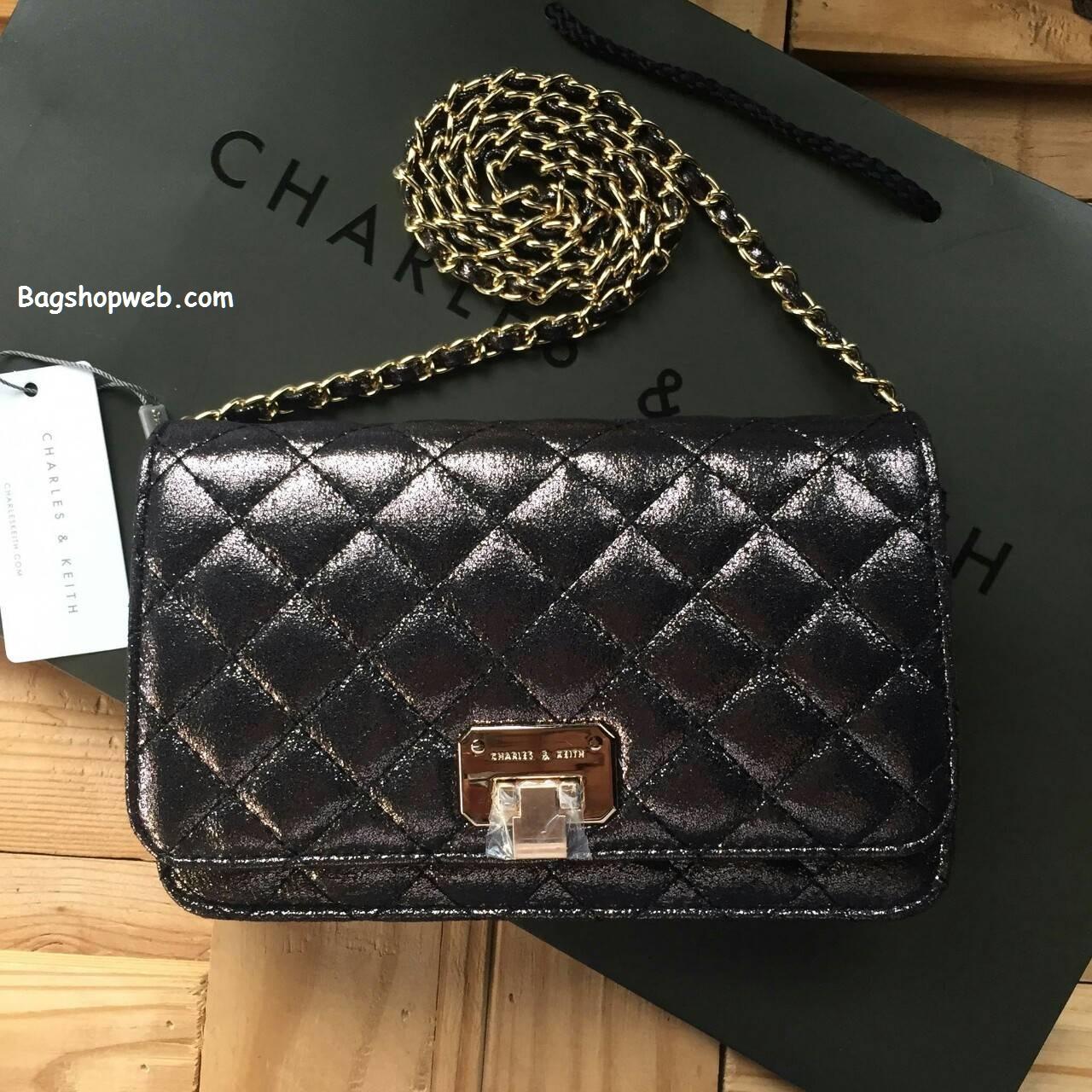 กระเป๋า Charles & Keith Clutch 2016 สีน้ำตาลมัลติคัลเลอร์