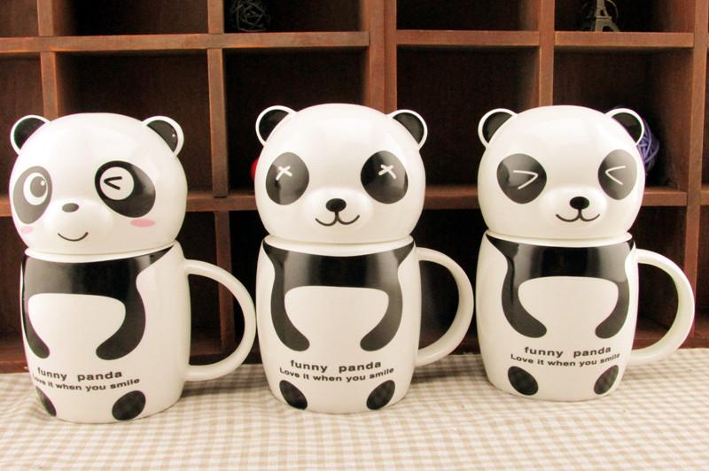 แก้วกาแฟเซรามิกหมีแพนด้า