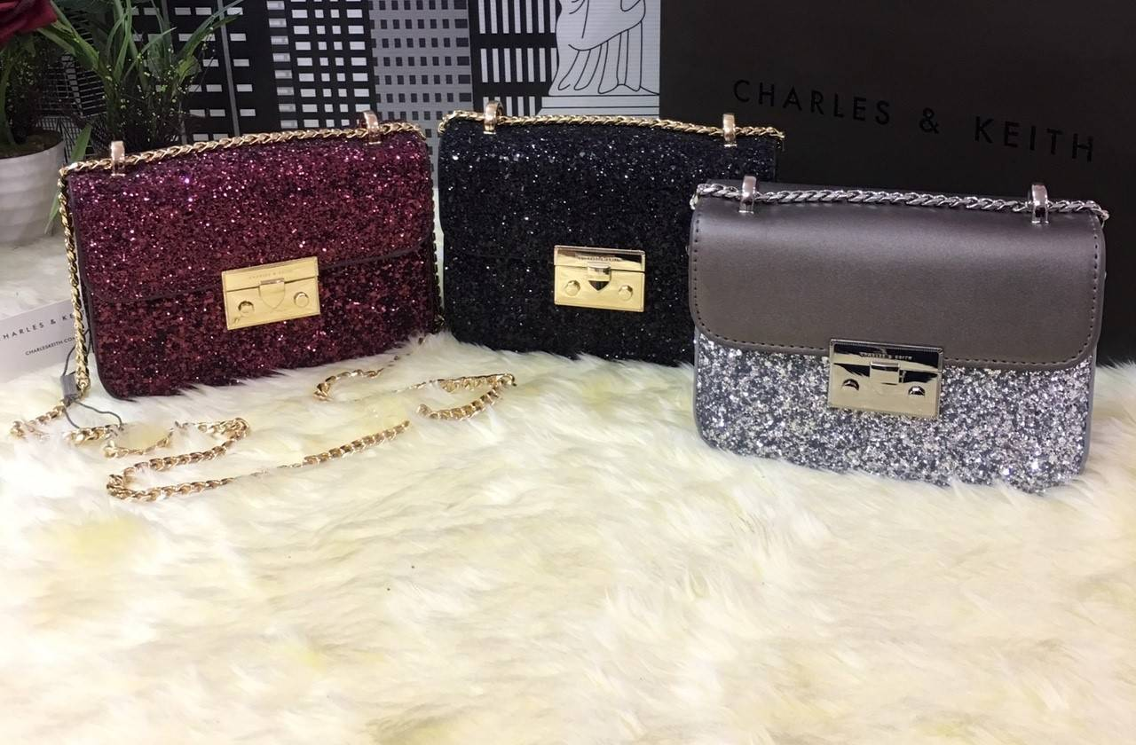 CHARLES & KEITH Mini Square Shaped shoulder bag 2017
