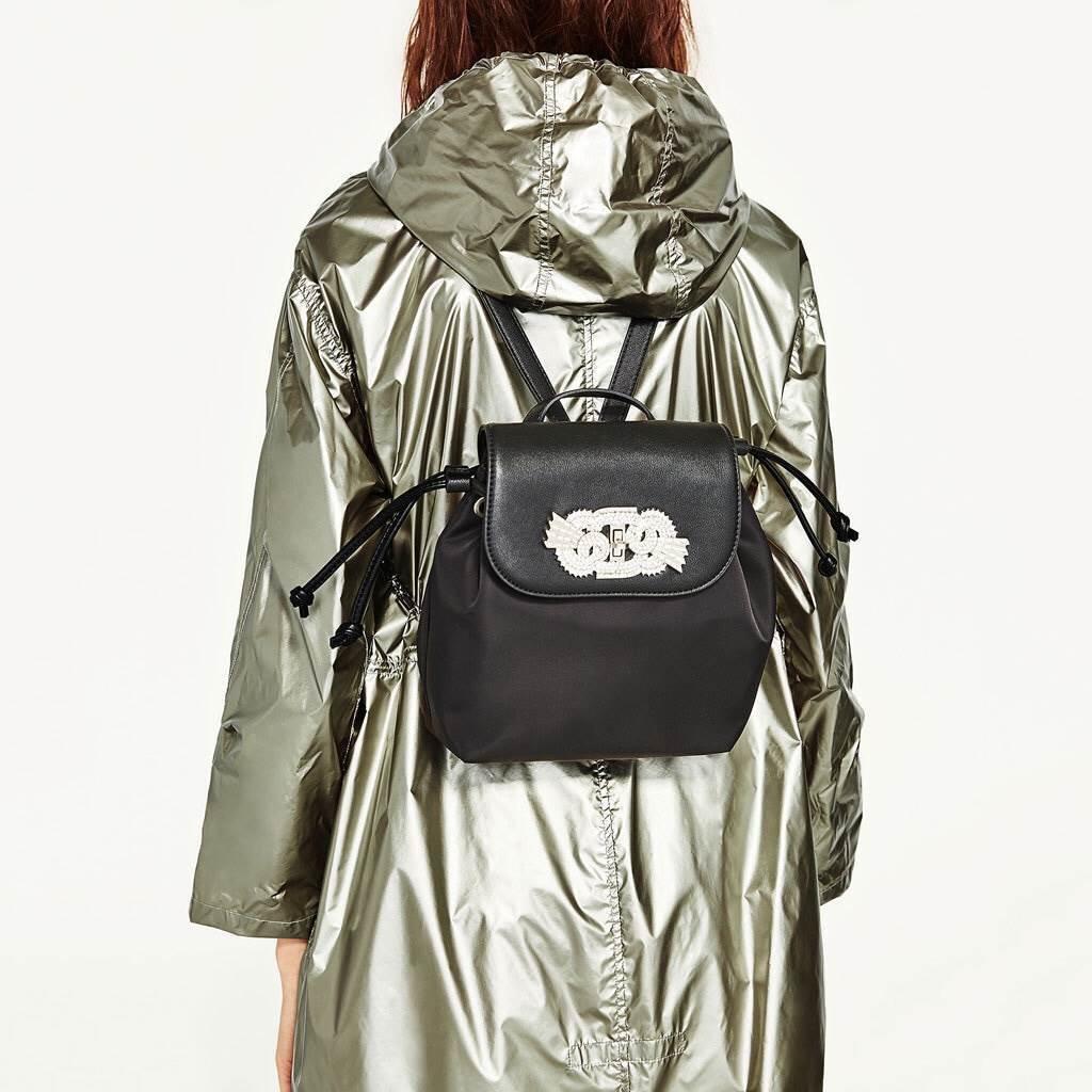 ZARA GAM DETAIL BACKPACK กระเป๋าสะพายทรงเป้ ขนาดมินิ รุ่นใหม่