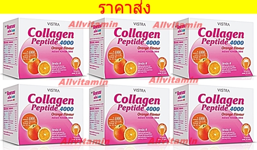 VISTRA Collagen Peptide 4000 mg Orange Flavour 6 BOX