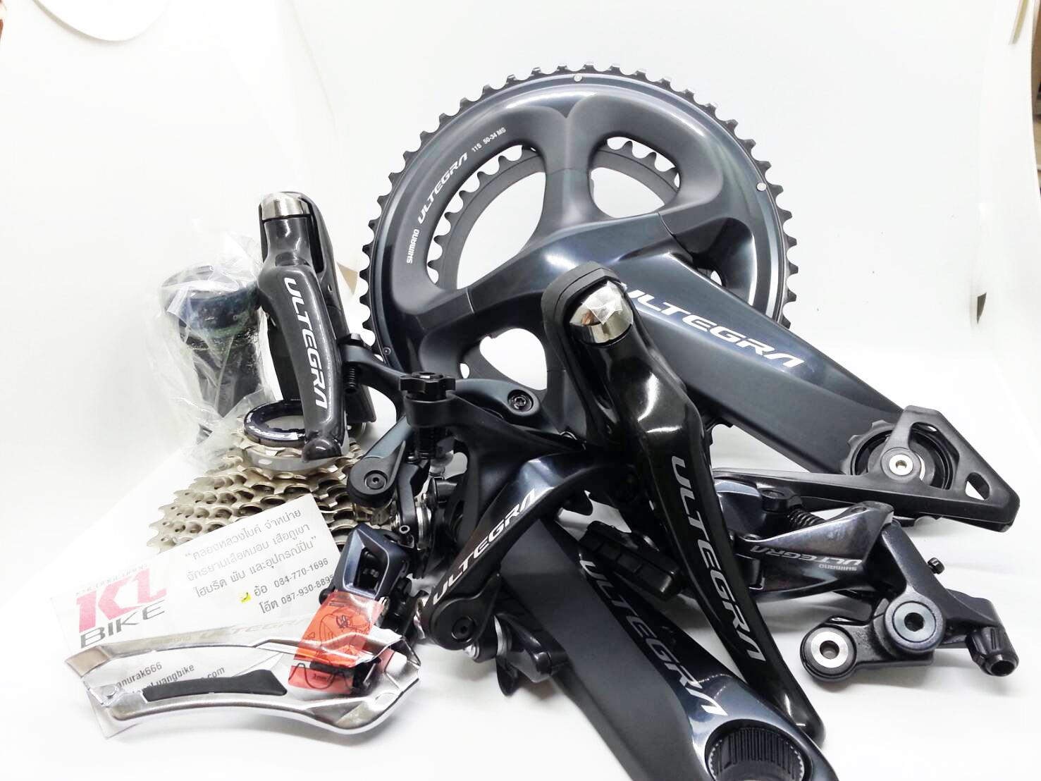 กรุ๊ปเซ็ต Shimano Ultegra 22 Speed รุ่นใหม่ R8000 จานหน้า 50 34 เฟือง 11 32