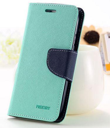 เคส asus zenfone selfie ZD551KL ฝาพับ mercury fancy diary case สีเขียว-น้ำเงิน