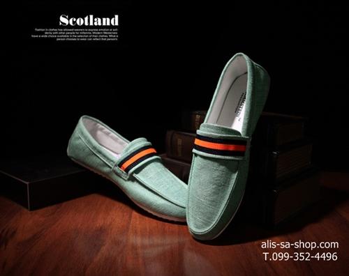 แฟชั่นรองเท้าชาย รองเท้าหนังผ้าใบ ไสต์เกาหลี สีเบจ/สีเทา/สีฟ้าอ่อนไซส์ 42-43-44 (Pre)